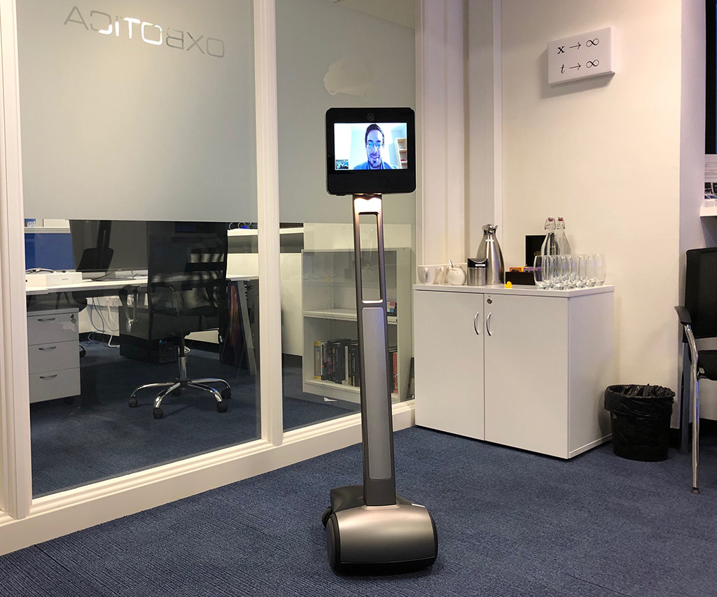 Peter on a telepresence robot